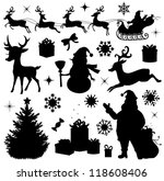 collection of a christmas... | Shutterstock .eps vector #118608406