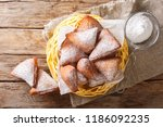 mandazi  also known as the dabo ... | Shutterstock . vector #1186092235
