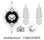 set of ornamental boho chic...   Shutterstock .eps vector #1186101805