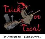 trick or treat halloween... | Shutterstock .eps vector #1186109968