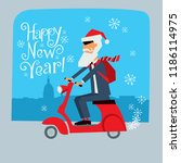 postcard with the new year....   Shutterstock .eps vector #1186114975