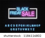 black friday is the sign of... | Shutterstock .eps vector #1186116802
