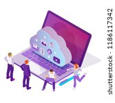 reliable cloud service | Shutterstock . vector #1186117342