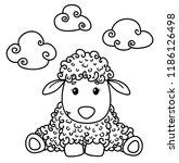 Vector Cute Sheep Cartoon ...