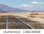 railway track leading from... | Shutterstock . vector #1186130068