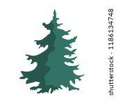 hand drawn christmas tree...   Shutterstock .eps vector #1186134748