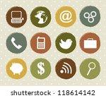 communication icons over... | Shutterstock .eps vector #118614142
