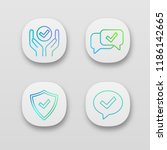 approve app icons set.... | Shutterstock .eps vector #1186142665