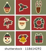 vector christmas elements design | Shutterstock .eps vector #118614292