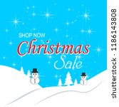 merry christmas and happy new... | Shutterstock .eps vector #1186143808