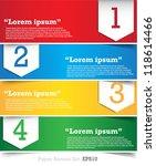 paper banner design templates...   Shutterstock .eps vector #118614466