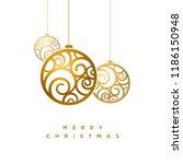 vector christmas greeting card... | Shutterstock .eps vector #1186150948