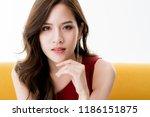beautiful attractive elegance... | Shutterstock . vector #1186151875