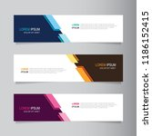 vector abstract banner design... | Shutterstock .eps vector #1186152415
