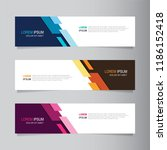 vector abstract banner design... | Shutterstock .eps vector #1186152418