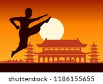 chinese boxing kung fu martial... | Shutterstock .eps vector #1186155655