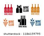 wine black icons on white... | Shutterstock .eps vector #1186159795
