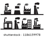 set of industry manufactory... | Shutterstock .eps vector #1186159978