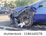 real event. car accident. the... | Shutterstock . vector #1186160278
