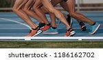 feet runners sprinters start...   Shutterstock . vector #1186162702