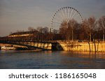 winter flood in paris  france.... | Shutterstock . vector #1186165048