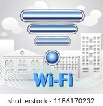 wi fi city connection | Shutterstock .eps vector #1186170232