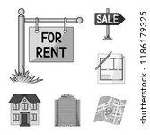 realtor  agency monochrome... | Shutterstock .eps vector #1186179325