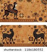 ancient greece mythology.black... | Shutterstock .eps vector #1186180552