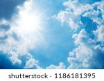 blue sky with cloud background | Shutterstock . vector #1186181395