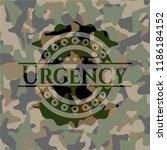 urgency on camouflaged pattern | Shutterstock .eps vector #1186184152