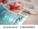 banknote five pounds      ... | Shutterstock . vector #1186185802
