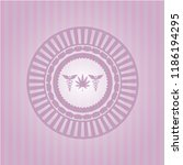 medicinal weed icon inside pink ... | Shutterstock .eps vector #1186194295
