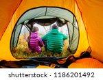 autumn nature lifestyle  back... | Shutterstock . vector #1186201492