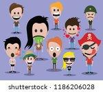 cute people  cartoon character  ... | Shutterstock .eps vector #1186206028