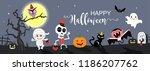 happy halloween greetings... | Shutterstock .eps vector #1186207762