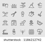line icons set for garden | Shutterstock .eps vector #1186212742