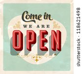 Vintage Store Sign   Open Sign  ...