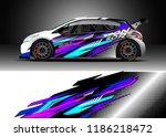 car decal wrap design vector....   Shutterstock .eps vector #1186218472