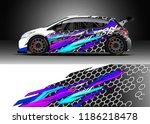 car decal wrap design vector....   Shutterstock .eps vector #1186218478