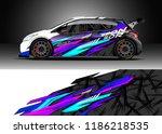 car decal wrap design vector.... | Shutterstock .eps vector #1186218535