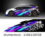 car decal wrap design vector....   Shutterstock .eps vector #1186218538