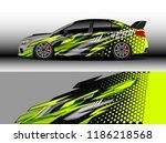 car decal wrap design vector.... | Shutterstock .eps vector #1186218568