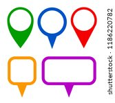 pin map marker pointer icons... | Shutterstock .eps vector #1186220782