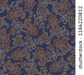 paisley illustration pattern ... | Shutterstock .eps vector #1186220812