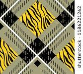 lumberjack plaid. scottish... | Shutterstock .eps vector #1186221262