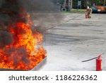firefighter during training...   Shutterstock . vector #1186226362