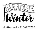 paradise winter with flag.... | Shutterstock .eps vector #1186228702