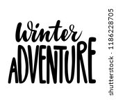 winter adventure. isolated... | Shutterstock .eps vector #1186228705