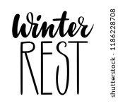 winter rest. isolated vector ... | Shutterstock .eps vector #1186228708
