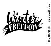 winter freedom. isolated vector ... | Shutterstock .eps vector #1186228732